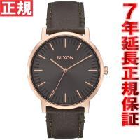 ニクソン NIXON ポーターレザー PORTER LEATHER 腕時計 メンズ ローズゴールド/...