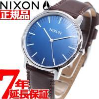 ニクソン NIXON ポーターレザー PORTER LEATHER 腕時計 メンズ ネイビー/ブラウ...