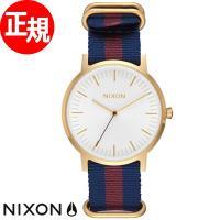 ニクソン NIXON ポーターナイロン PORTER NYLON 腕時計 メンズ ゴールド/ホワイト...