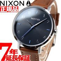 ニクソン NIXON アローレザー ARROW LEATHER 腕時計 レディース ブラック/ブラウ...