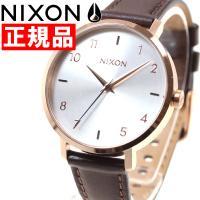 ニクソン NIXON アローレザー ARROW LEATHER 腕時計 レディース ローズゴールド/...