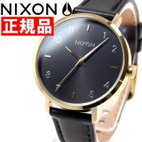 ニクソン NIXON アローレザー ARROW LEATHER 腕時計 レディース ゴールド/ブラッ...
