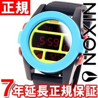 ニクソン NIXON ユニット UNIT 腕時計 メンズ ブラック/ブルー/シャルトリューズ デジタ...