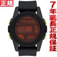 ニクソン NIXON ユニット UNIT 腕時計 メンズ オールブラック/レッド NA197760-...