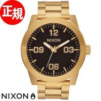 ニクソン NIXON コーポラルSS CORPORAL SS 腕時計 メンズ オールゴールド/ブラッ...
