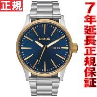 ニクソン NIXON セントリーSS SENTRY SS 腕時計 メンズ ゴールド/ブルーサンレイ ...