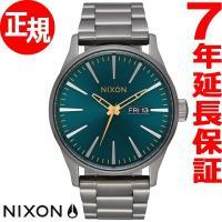 ニクソン NIXON セントリーSS SENTRY SS 腕時計 メンズ ガンメタル/スプルース/ブ...