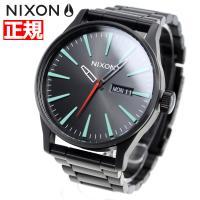 ニクソン NIXON セントリーSS SENTRY SS 腕時計 メンズ オールブラック/シルバー/...
