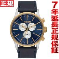 ニクソン NIXON セントリークロノレザー SENTRY CHRONO LEATHER 腕時計 メ...