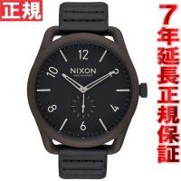 ニクソン NIXON C45レザー C45 LEATHER 腕時計 メンズ ブロンズ/ブラック NA...