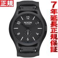 ニクソン NIXON C45レザー C45 LEATHER 腕時計 メンズ オールブラック/ホワイト...