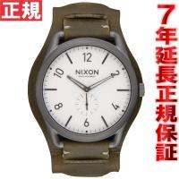 ニクソン NIXON C45レザー C45 LEATHER 腕時計 メンズ ガンメタル/サープラスカ...
