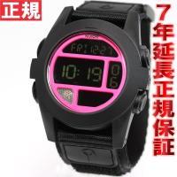 ニクソン NIXON バハ BAJA 腕時計 メンズ ブラック/ブライトピンク 日本先行発売カラー ...