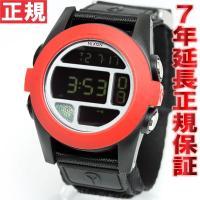 ニクソン NIXON バハ BAJA 腕時計 メンズ オールブラック/レッド NA489760-00...