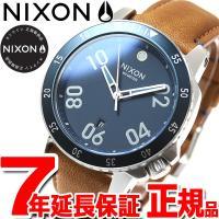 ニクソン NIXON レンジャーレザー RANGER LEATHER 腕時計 メンズ ネイビー/サド...