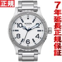 ニクソン NIXON 46 腕時計 メンズ ホワイトサンレイ NA9162450-00 大きすぎず、...
