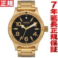 ニクソン NIXON 46 腕時計 メンズ オールゴールド/ブラック NA916510-00 大きす...