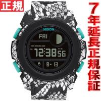 ニクソン NIXON スーパーユニット SUPER UNIT 腕時計 メンズ ブラック/ホワイトスネ...
