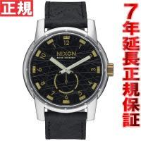 ニクソン NIXON パトリオットレザー PATRIOT LEATHER 腕時計 メンズ ブラック/...