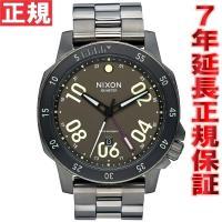 ニクソン NIXON レンジャーGMT RANGER GMT 腕時計 メンズ オールガンメタル/ラム...