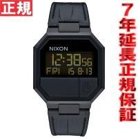 ニクソン NIXON リランレザー RE-RUN LEATHER 腕時計 メンズ ブラッククロコ デ...