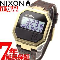 ニクソン NIXON リランレザー RE-RUN LEATHER 腕時計 メンズ ブラウンクロコ デ...