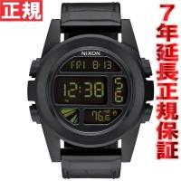 ニクソン NIXON ユニットSSレザー UNIT SS LEATHER 腕時計 メンズ ブラックゲ...