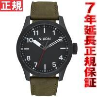 ニクソン NIXON サファリレザー SAFARI LEATHER 腕時計 メンズ オールブラック/...