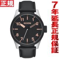 ニクソン NIXON サファリレザー SAFARI LEATHER 腕時計 メンズ ブラック/ローズ...