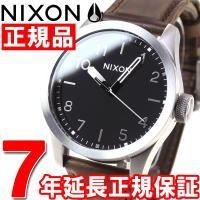 ニクソン NIXON サファリレザー SAFARI LEATHER 腕時計 メンズ シルバー/ブラッ...