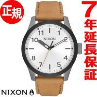 ニクソン NIXON サファリ レザー SAFARI LEATHER 腕時計 メンズ ガンメタル/シ...