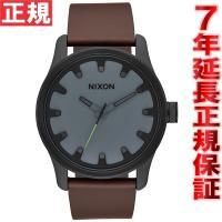ニクソン NIXON ドライバーレザー DRIVER LEATHER 腕時計 メンズ ブラック/チャ...