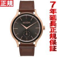 ニクソン NIXON サラレザー SALA LEATHER 腕時計 レディース ローズゴールド/バー...