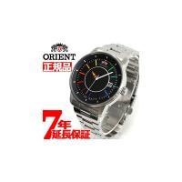 オリエント ORIENT スタイリッシュ&スマート ディスク DISK レインボー 腕時計 メンズ ...