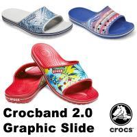 クロックス(CROCS) クロックス(CROCS) クロックバンド 2.0 グラフィック スライド(crocband 2.0 graphic slide) メンズ/レディース サンダル(男女兼用)[AA]
