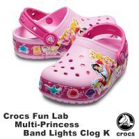 クロックス CROCS クロックス ファン ラブ プリンセス バンド ライツ クロッグ キッズ crocs fun lab Princess band lights clog kids サンダル[AA]