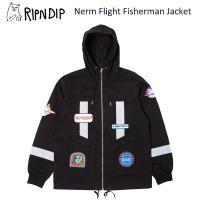 リップンディップ RIPNDIP  Nerm Flight Fisherman Jacket  Black  ジャケット アウター 男性用 メンズ[BB]