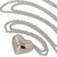 ティファニー ドッツハート 3Pダイヤ ネックレス pt950 40.5cm