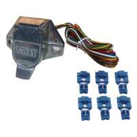 ■配線長:145cm×6本 ●牽引車側灯火類の配線ソケット、電線、中継コネクター(6個)セットです。...
