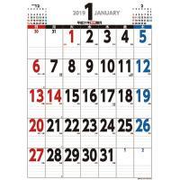 【ゆうメール利用不可】カレンダー/ジャンボ スケジュール B2タテ型 (祝日訂正シール付き) [2019年カレンダー]