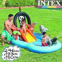 INTEX パイレーツプレイセンター 246×193×150cm 57168 インテックス 大型プール 滑り台つき
