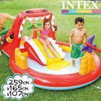 INTEX ハッピーダイノプレイセンター 259×165×107cm 57160 インテックス 大型プール 滑り台つき