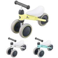 1歳から始めるアクティブベビーのためのトレーニングバイク☆ 前2輪、後1輪の三輪車で、ハンドルに体重...