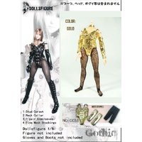 8760c83f1caa3 ドールズフィギュア cc53 1 6フィギュア用衣装 女性用 コルセット&ストッキング セット ゴールド (DOLLSFIGURE CC53)  トイメーカー『Dollsfigure』より1/6ドール・ ...