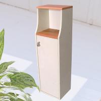 ■予備のペーパーやトイレ洗剤が収納でき、 棚には小物が飾れます。  ■スリムで片面扉、小物棚付き (...
