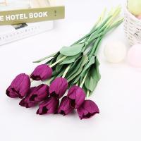 造花 チューリップ 20本 (濃紫)