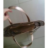 クリアバッグ トート型 メタリックカラー (ホワイトゴールド)