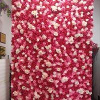 ローズレッド バラ 造花 花 インテリアフラワー 50個セット