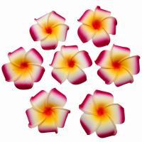 造花 プルメリア 花のみ 7センチ 50個 (ボルドー)