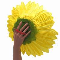 造花 ひまわり 花のみ 持ち手ゴム付き 40cm 10個セット